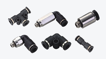 Compact One Touch Tube Fittings, Mini Type Push In Air Fittings