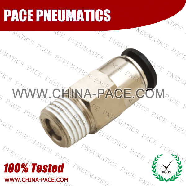Male Straight Check Valve, Push To Connect Check Valve, One Way Check Valve