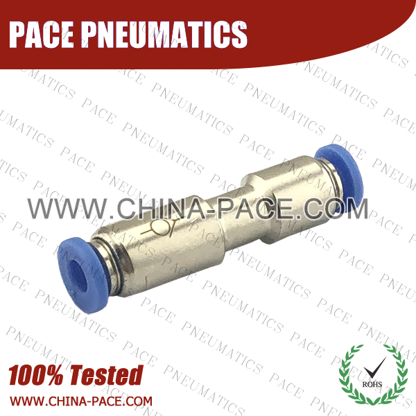 Union Straight Check Valve, Push To Connect Check Valve, One Way Check Valve