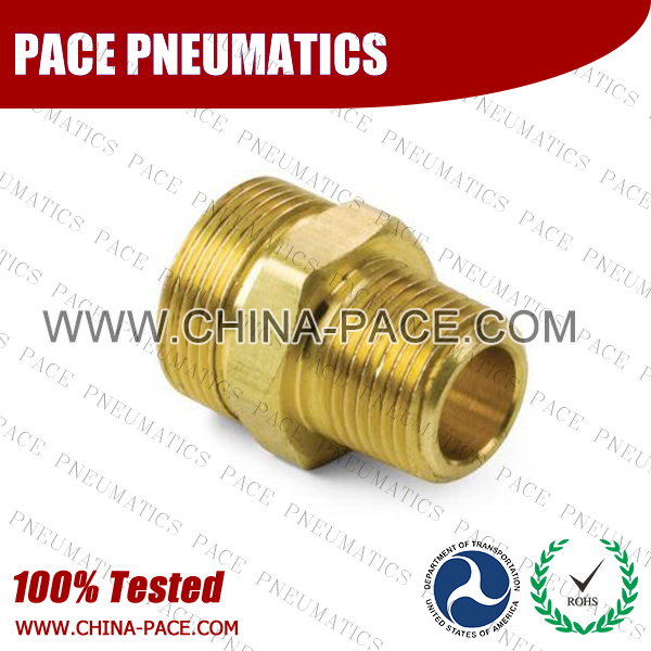 Male Adapter, Air Brake DOT Compression Fittings For Rubber Hose, DOT Air brake Hose ends,  D.O.T. AIR BRAKE REUSABLE FITTINGS, DOT Brass Fittings, Air Brake Fittings for Rubber Tubing, Pneumatic Fittings, Brass Air Fittings