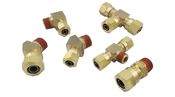 D.O.T. Air Brake Compression Fittings For Nylon Tubing