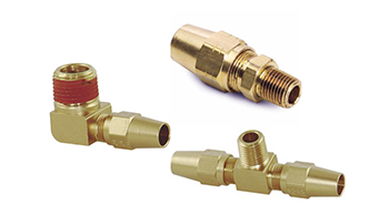 DOT Air Brake Compression Fittings For Copper Tubing