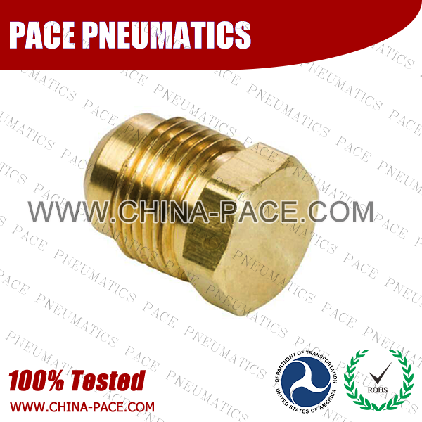 Flared Plug SAE 45°Flare Fittings, Brass Pipe Fittings, Brass Air Fittings, Brass SAE 45 Degree Flare Fittings
