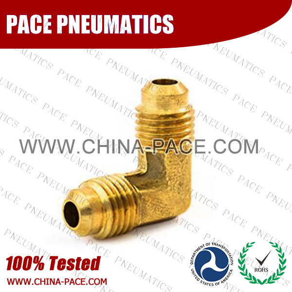 Forged 90°Flare Elbow SAE 45°Flare Fittings, Brass Pipe Fittings, Brass Air Fittings, Brass SAE 45 Degree Flare Fittings