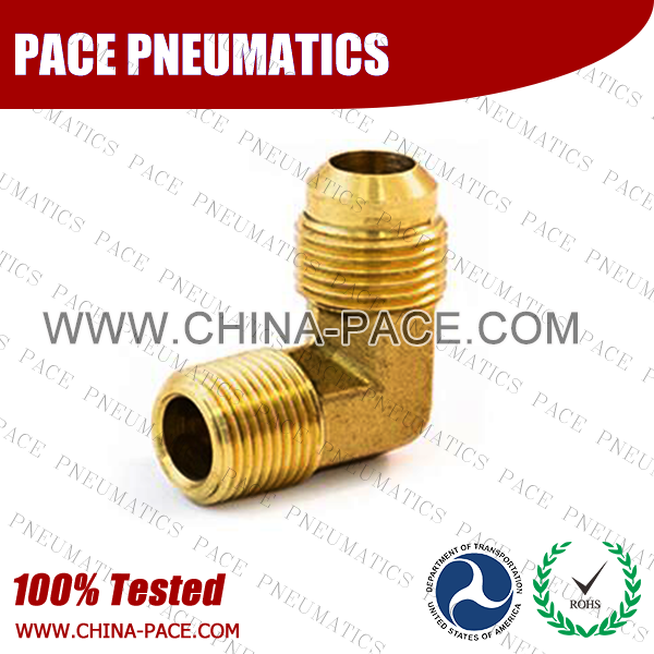 Forged 90°Male Elbow SAE 45°Flare Fittings, Brass Pipe Fittings, Brass Air Fittings, Brass SAE 45 Degree Flare Fittings
