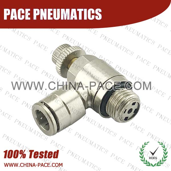 G Thread Flow Control Valve, Camozzi Type Brass Push In Air Fittings, All Brass Pneumatic Fittings, Nickel Plated Brass Air Fittings, Full Brass Push To Connect Fittings, one touch tube fittings, Push In Pneumatic Fittings
