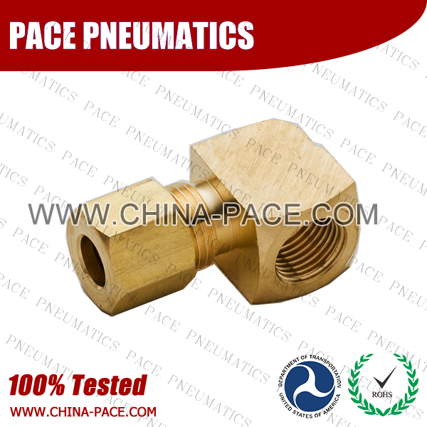 Barstock 90°Female Elbow Brass Compression Fittings, Air compression Fittings, Brass Compression Fittings, Brass pipe joint Fittings, Pneumatic Fittings, Air Fittings, Pneumatic connectors, Air Connectors, pneumatic Components