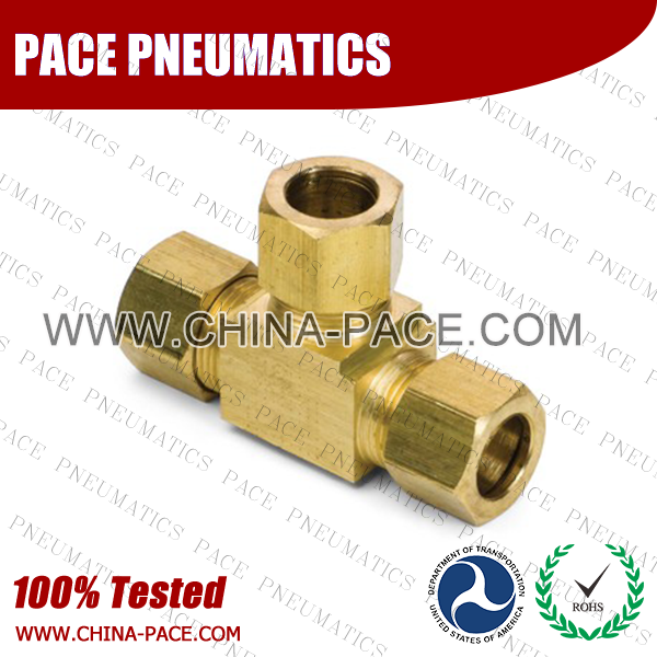 Barstock Union Tee Brass Compression Fittings, Air compression Fittings, Brass Compression Fittings, Brass pipe joint Fittings