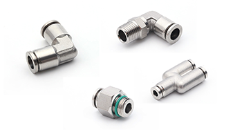 Stainless Steel Push To Connect Fittings, SUS push In Fittings, 316 Stainless Steel Air Fittings