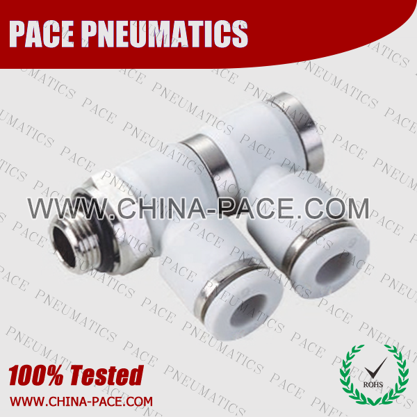 G Thread double male elbow push in fittings, pneumatic fittings, one touch fittings, push to connect fittings, air fittings
