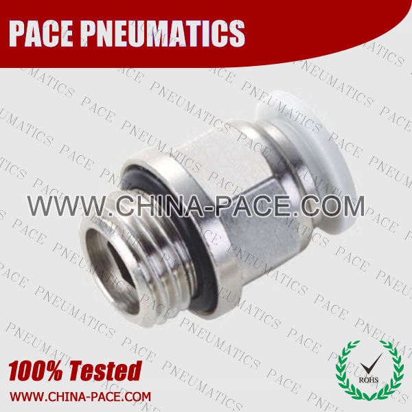 G Thread Male Straight push in fittings, pneumatic fittings, one touch fittings, push to connect fittings, air fittings