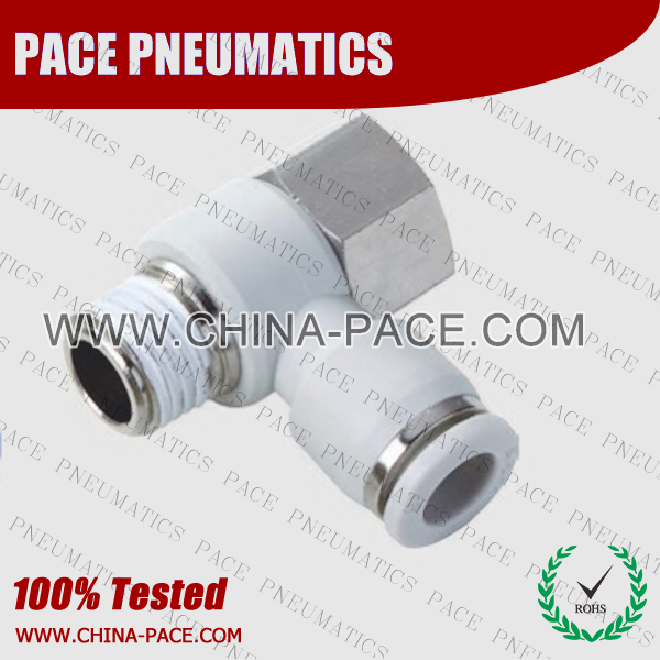 Female Banjo Elbow Grey Color Pneumatic Fittings, White Push To Connect Fittings, Air Fittings, white color push in fittings, Push In Air Fittings, Composite Push In Fittings, Polymer push to connect Fittings, Air Flow Speed Control valve, Hand Valve, pneumatic component