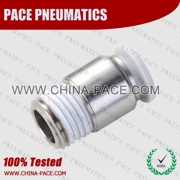 Round Male Straight Grey Color Pneumatic Fittings, White Push To Connect Fittings, Air Fittings, white color push in fittings, Push In Air Fittings, Composite Push In Fittings, Polymer push to connect Fittings, Air Flow Speed Control valve, Hand Valve, pneumatic component