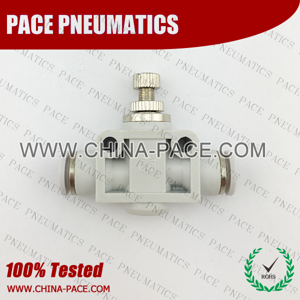 Union Straight Air Flow Control push in fittings, pneumatic fittings, one touch fittings, push to connect fittings, air fittings